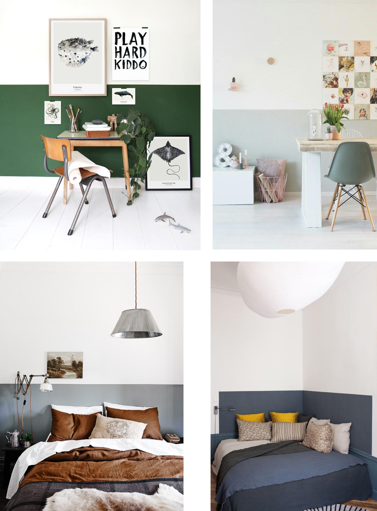 Color Idea: half painted walls - Interior Notes