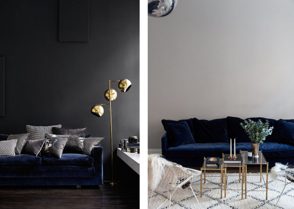 A Blue Velvet Sofa Interior Notes