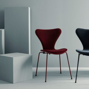 The Series 7 of Fritz Hansen dresses in velvet.