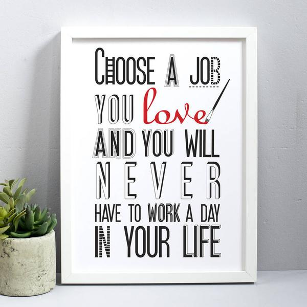 Love your job poster