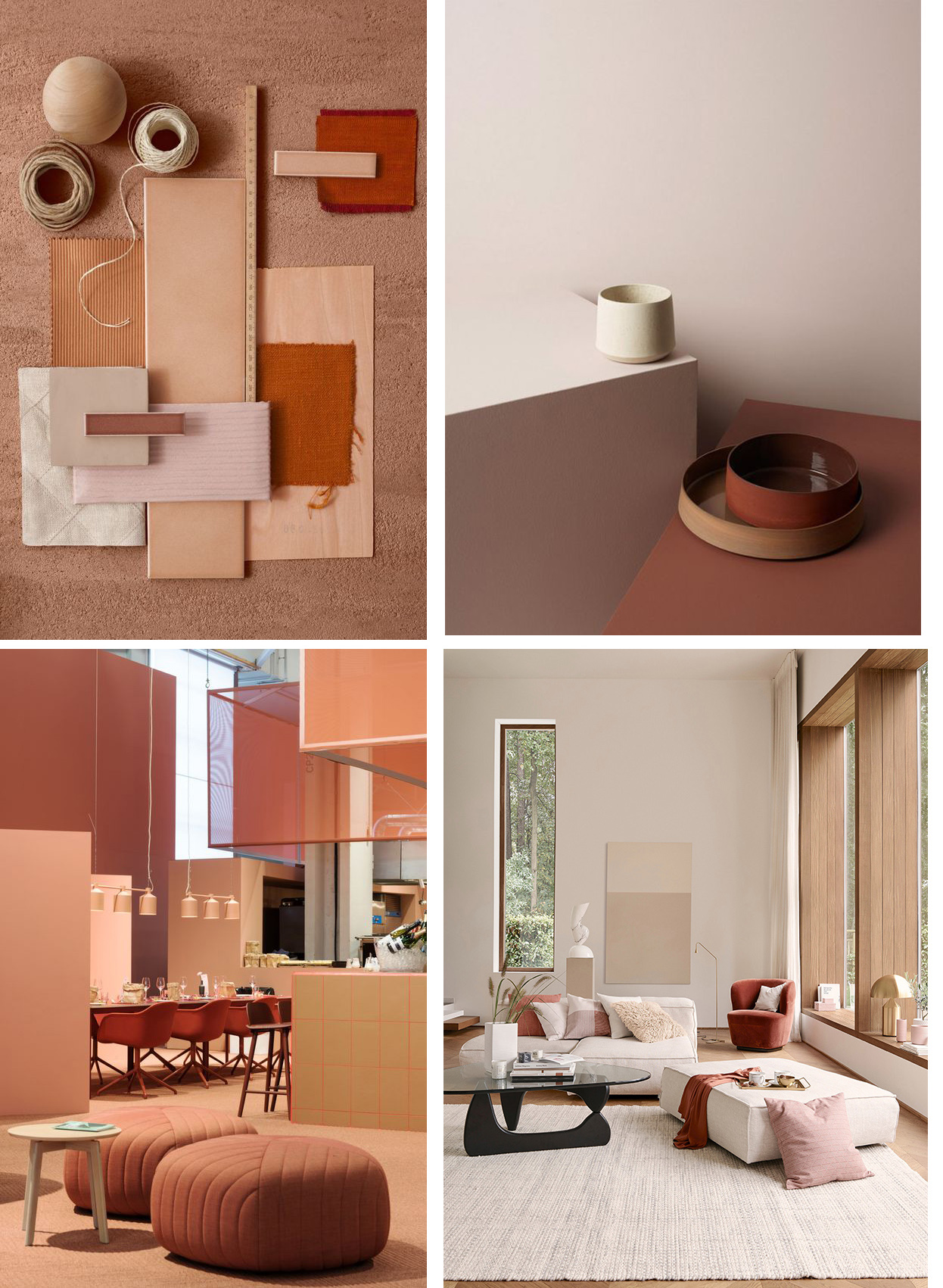 pink and terracotta in interiors