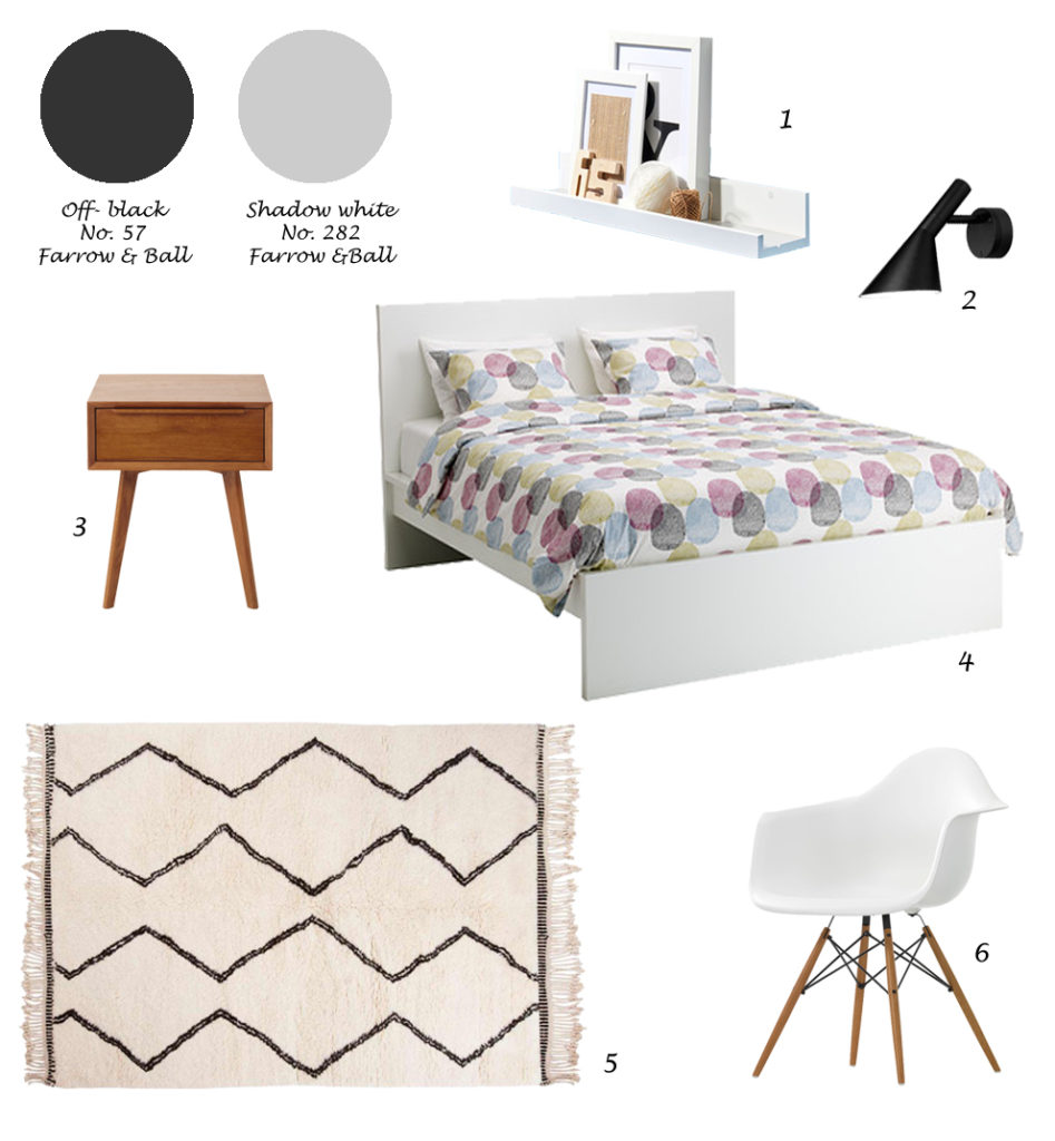 shopping list nordic style bedroom