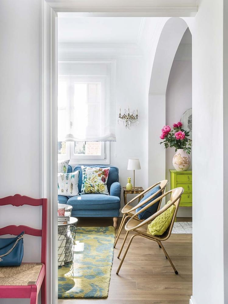 colourful interior of a spanish house