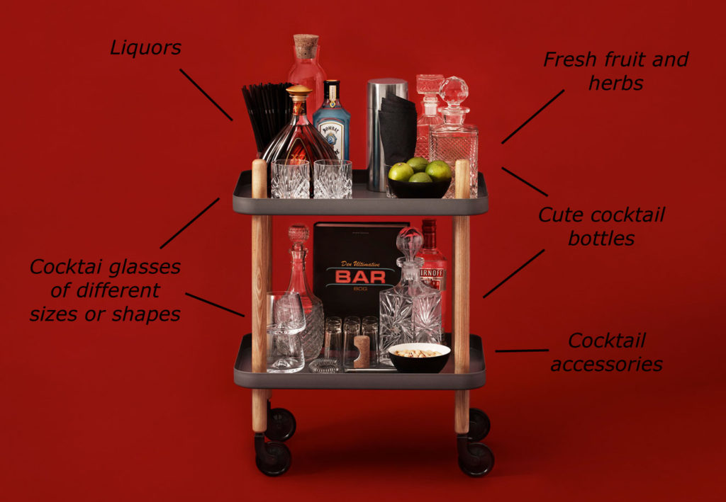 Drink trolley styling