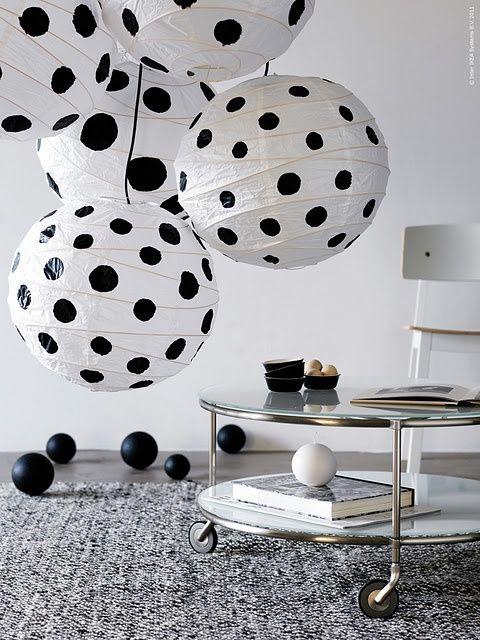 polka dots paper lamp