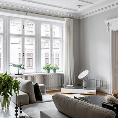 An elegant and bright apartment in Stockholm.