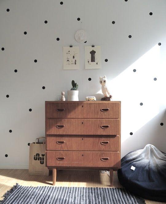 polka dots wall