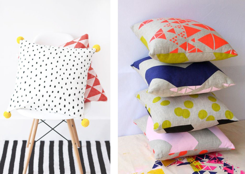 polka dots and geometric pattern