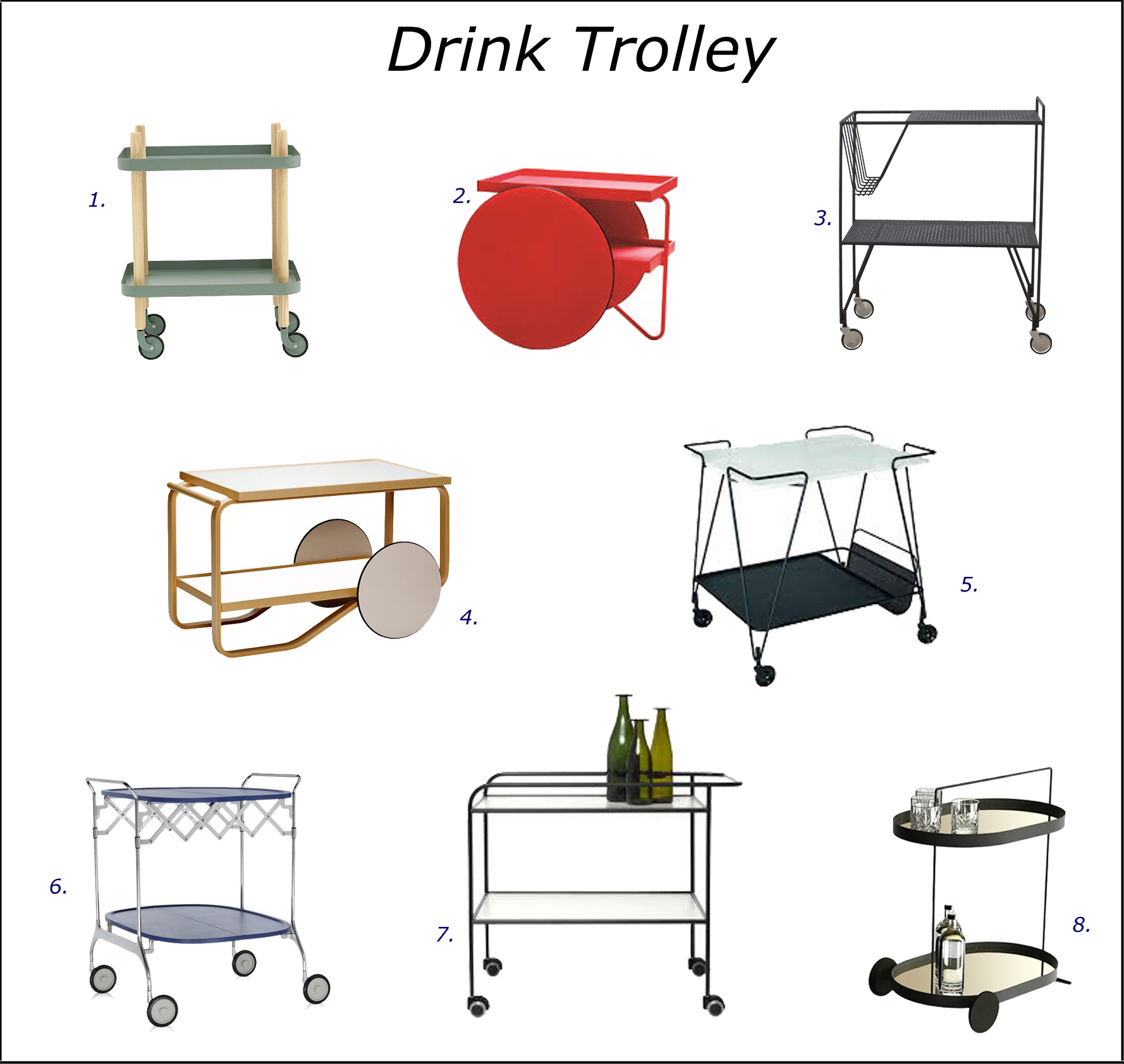 Drink trolley selection