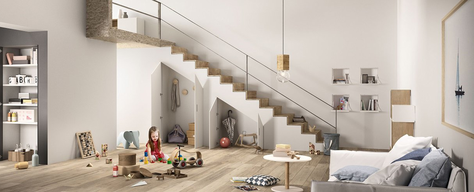 4 simple ideas to exploit the space under the stairs