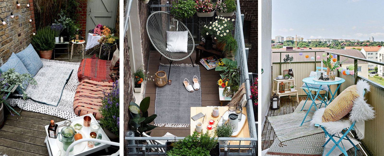 5 tips to decorate and exploit a small balcony