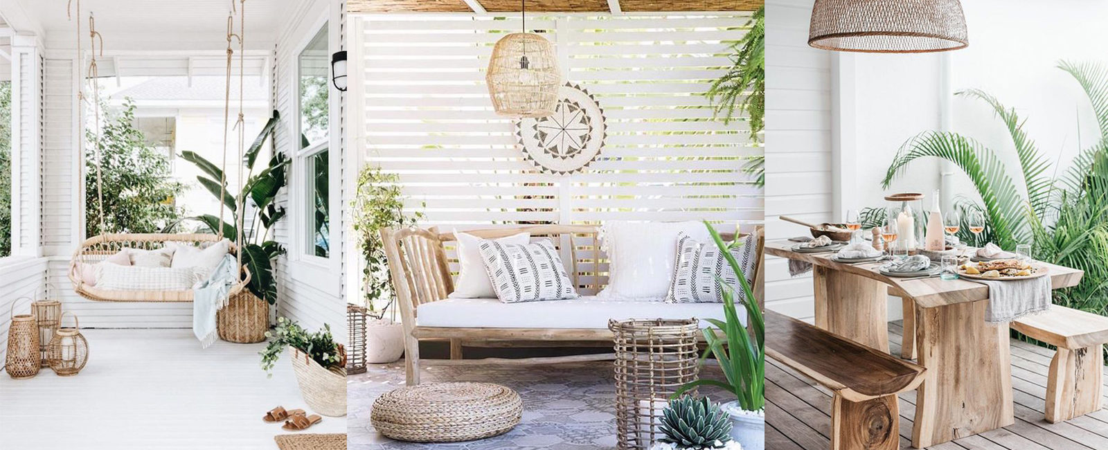 How to furnish a terrace with a natural style