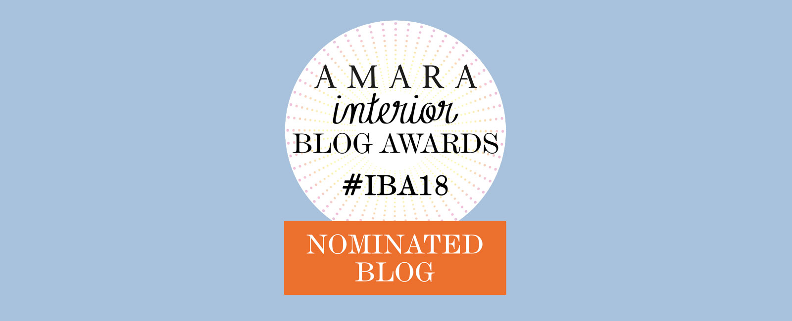 I am in nomination at the Amara Interior Blog Awards
