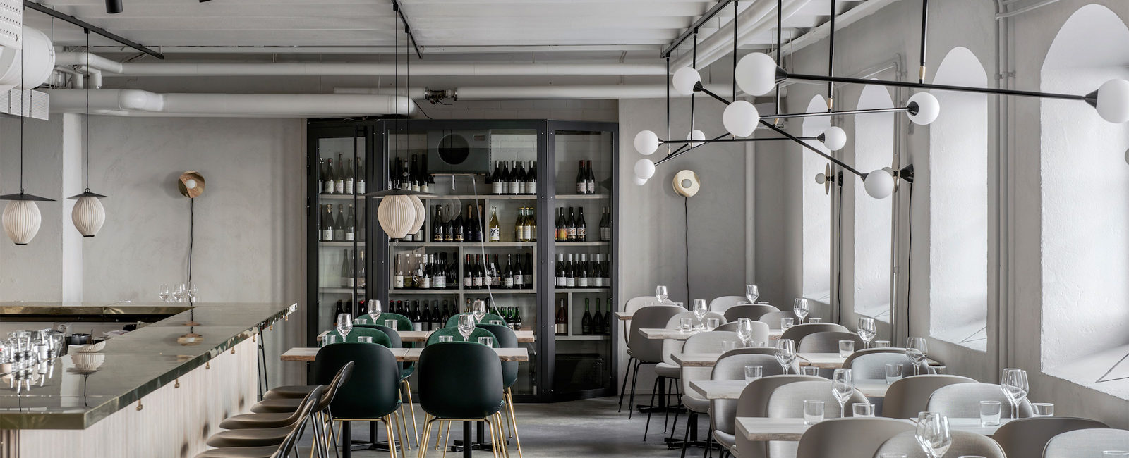 Sustainable cooking inspires the natural color palette of the Maannos restaurant in Helsinki.