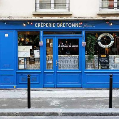 The colorful shop windows of Paris