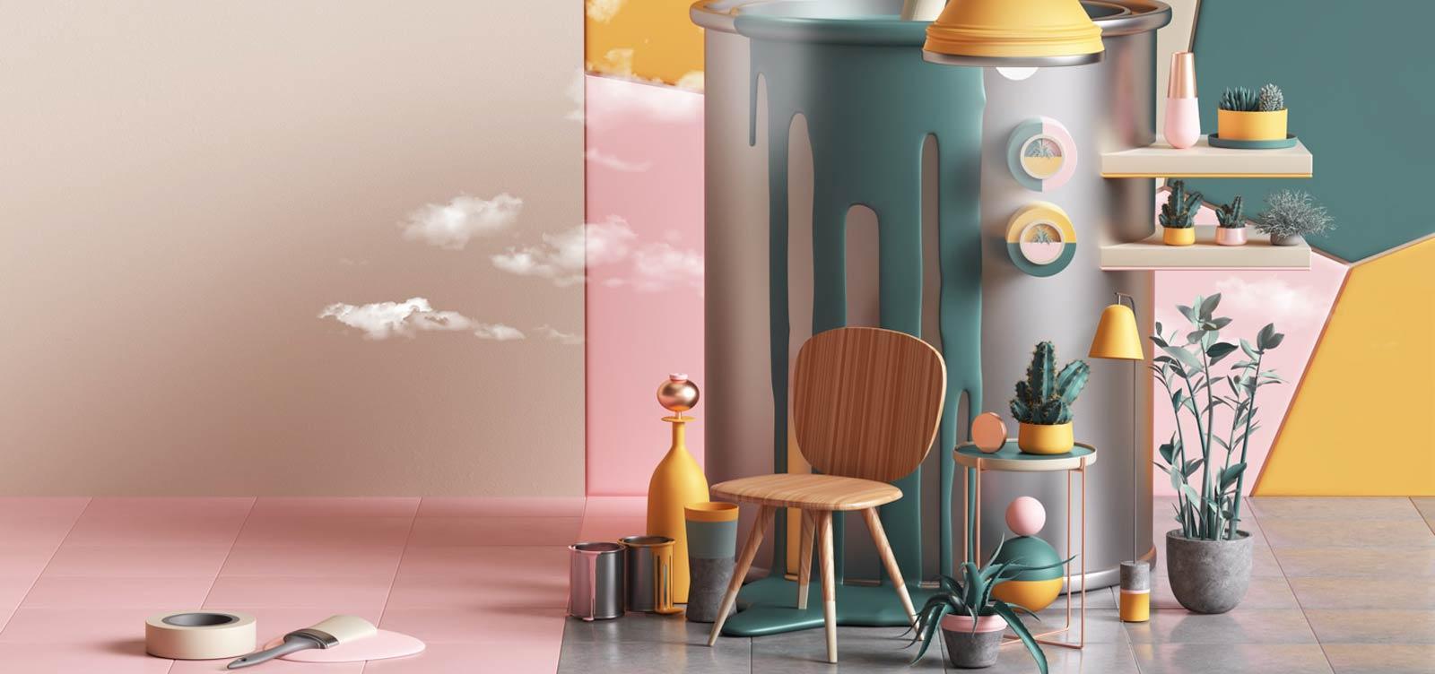 The 2019 home trends according to pinterest interior notes - Que cuadros poner en el salon ...