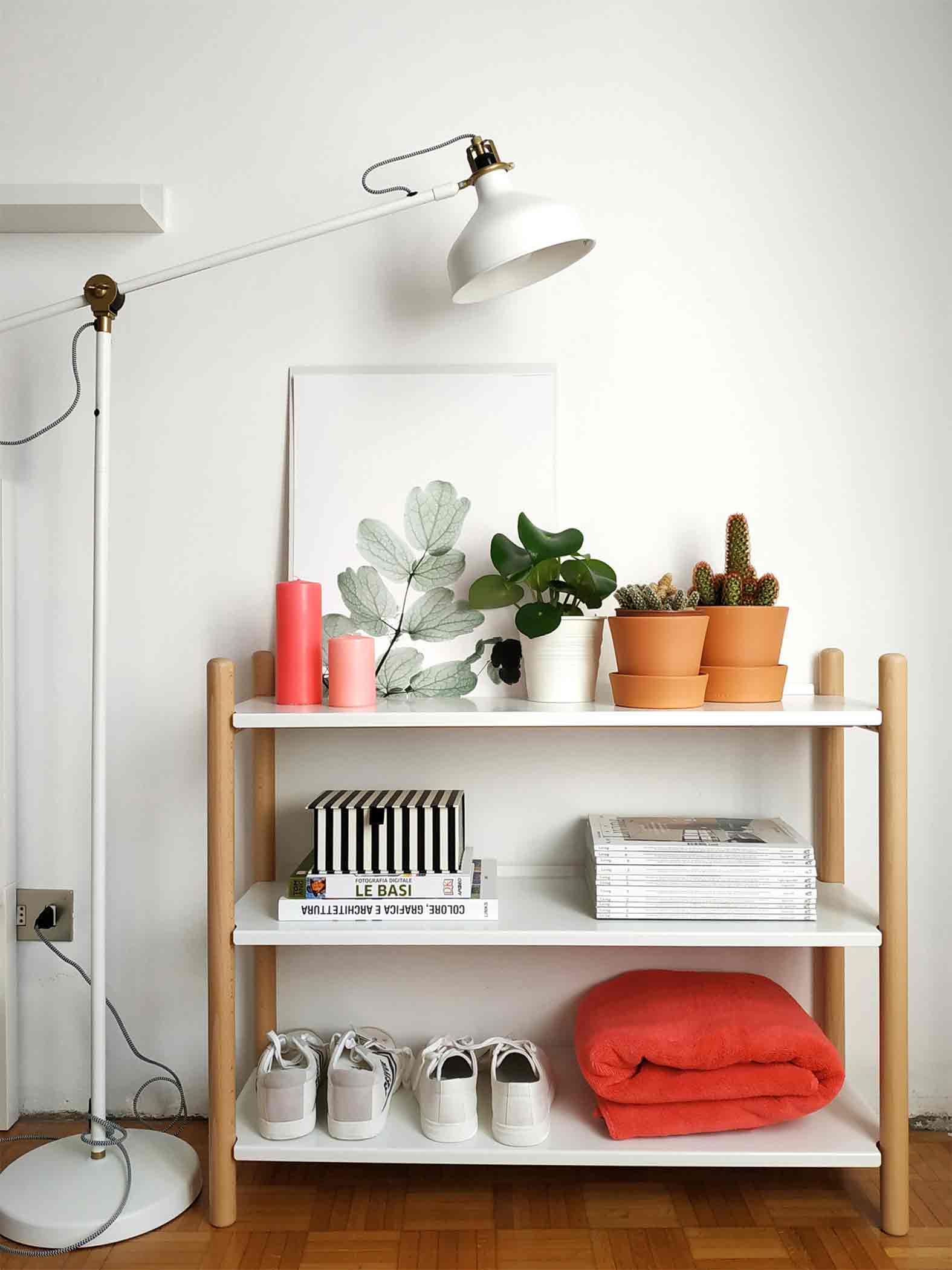 Shelves styling Living Coral