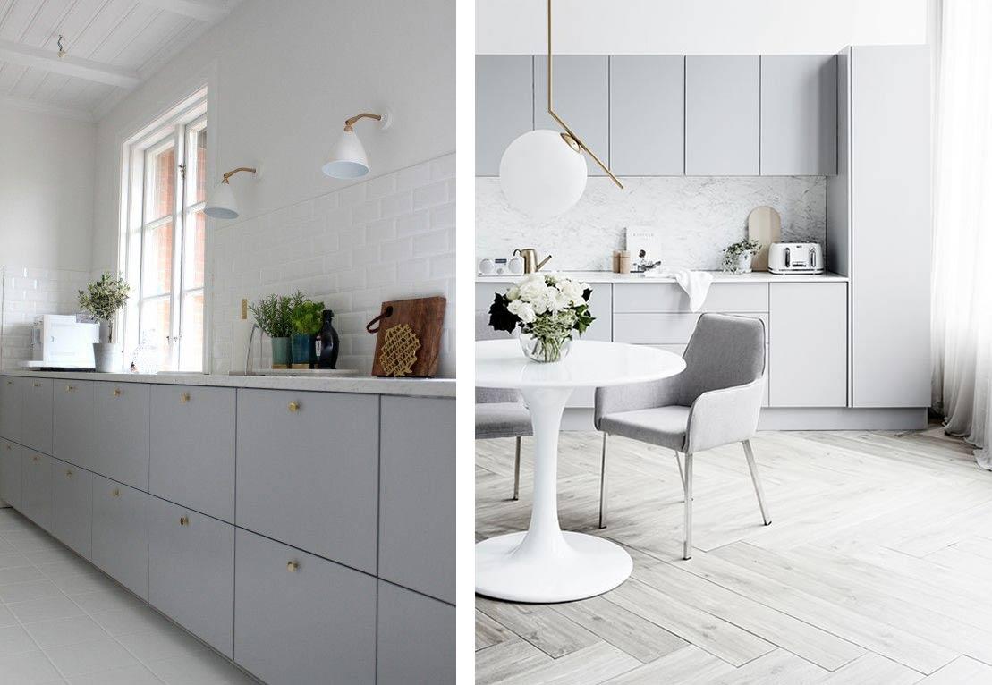 light grey kitchens