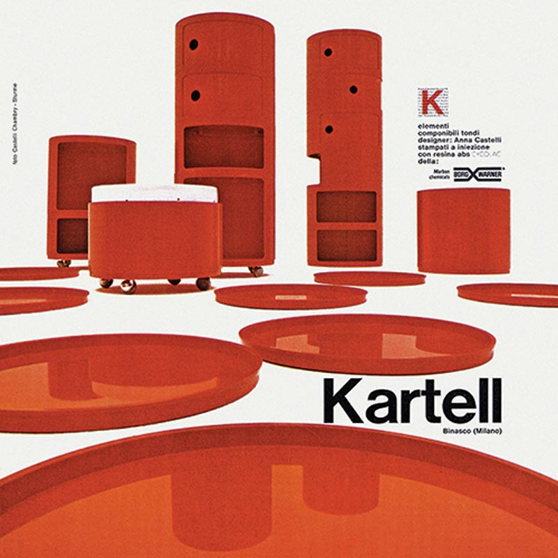 Componibily by Kartell, designed by Anna Castelli
