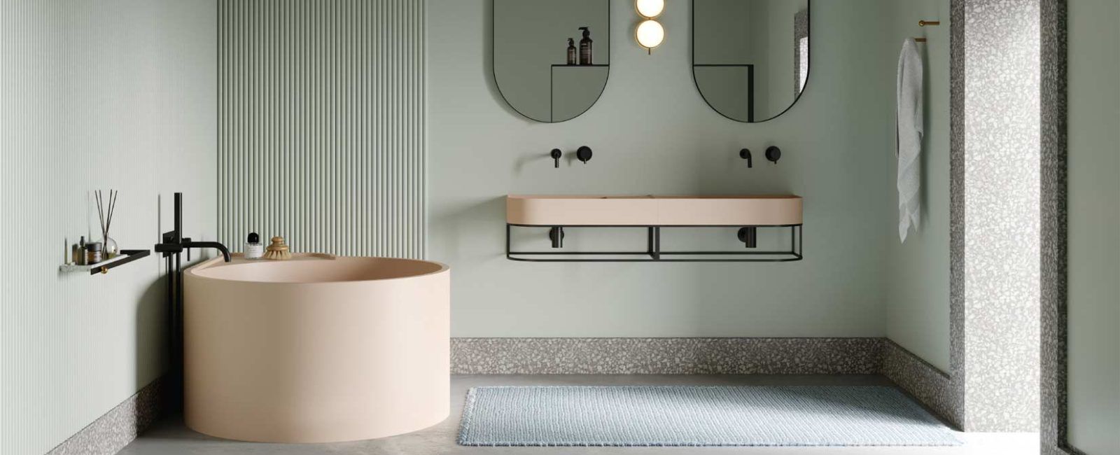 Bathromm trend 2020: colored washbasins and sanitary ware