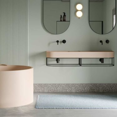 Bathroom trend 2020: colored washbasins and sanitary ware