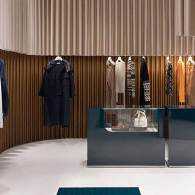 The Lanvin store in Shanghai designed by Dimorestudio