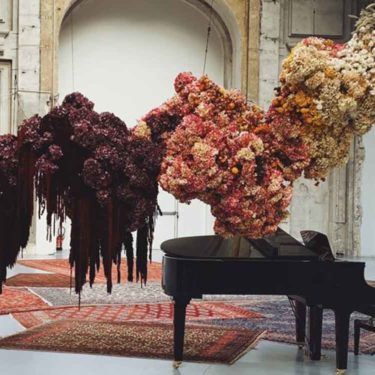 The suspended flower compositions of Mary Lennox