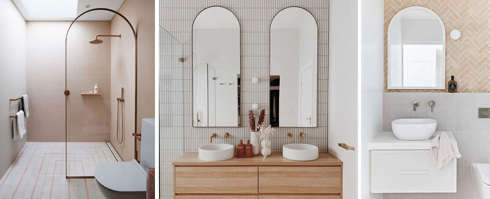 Bathroom trends 2021: arches
