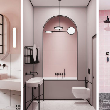 A pink bathroom