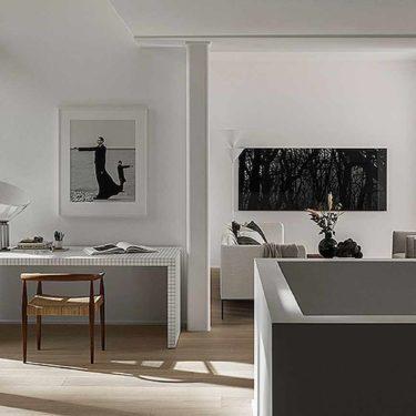 El estilo minimalista y acogedor de Lotta Agaton en un apartamento en Estocolmo