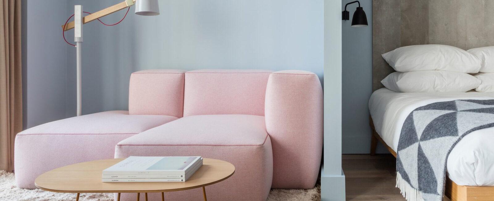 Colori pastello per un piccolo appartamento a Londra